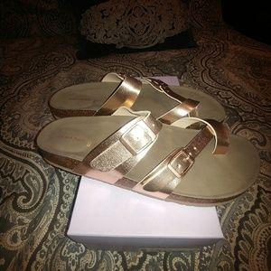 1e8ee34d328 Madden Girl Shoes - Madden Girl Bryceee rose gold sandals